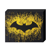 "DC Comics, Paint Splatter Canvas, ""Batman"" Logo"