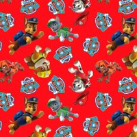 """Paw Patrol Rescue Anti-Pill Polyester Fleece Fabric By The Yard, 60"""""""