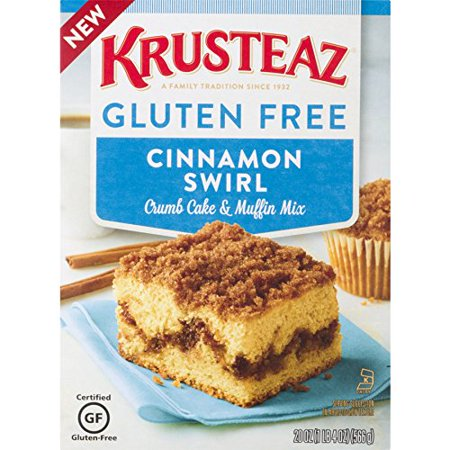 (2 pack) Krusteaz Gluten-Free Cinnamon Crumb Cake Mix, 20-Ounce Box
