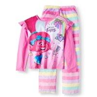 Trolls Girls' Poly 2-Piece Pajama Sleep Set