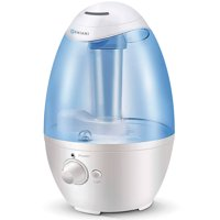 GENIANI 3L Ultrasonic Cool Mist Humidifier - Best Air Humidifiers for Bedroom / Living Room / Baby with Night Light - Whole House Solution - Large 3L Water Tank - Auto Shut Off & Filter-Free