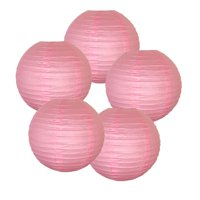 """Just Artifacts 8"""" Ivory  Paper Lantern (Set of 5, Ivory, 8inch) - Decorative Round Paper Lanterns for Birthday Parties, Weddings, Baby Showers, and Life Celebrations"""