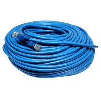 50' FT Feet 50Ft 50 Feet CAT6 CAT 6 RJ45 Ethernet Network LAN Patch Cable Cord For connects Computer to printer, router, switch box PS3 PS4 Xbox 360 Xbox One - Blue New
