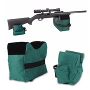 Front and Rear Shooting Rifle Shotgun Support Bench Shooters Gun Rest Bags Olive Green