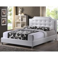 Baxton Studio Carlotta Modern Bed with Upholstered Headboard , Multiple Sizes, Multiple Colors