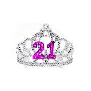 21 Twenty One Royal Happy Birthday Party Princess Tiara Glittered Sparkle  Crown 3822d9eb2bba