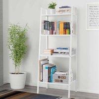 Zimtown 4 Tier Metal Ladder Shelf Bookshelf Bookcase Leaning Storage Rack A Frame Corner Display Plant Vertical