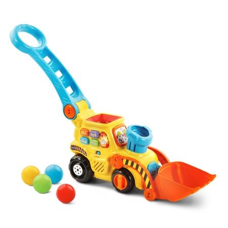 VTech Pop-a-Balls - Push & Pop Bulldozer](Baby Pop Up Toy)