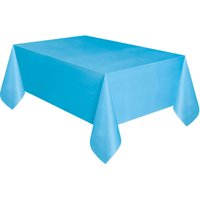 Light Blue Plastic Party Tablecloth, 108 x 54in, 2ct