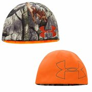 e1719068fd1 Under Armour 1249768 Men s Reversible Realtree Camo Blaze Orange Hunting  Beanie