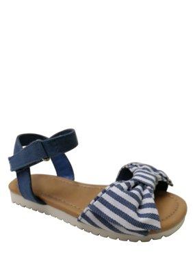 Wonder Nation Toddler Girls' Striped Bow Sandal