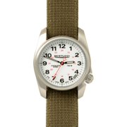 c09afffe1249 Unisex A-1S Field Analog Stainless steel Watch - Brown Nylon Strap - White  Dial