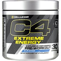 Cellucor C4 Extreme Energy Pre Workout Powder, Icy Blue Razz, 30 Servings