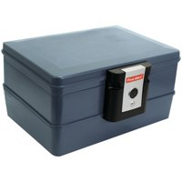 First Alert 0.39 cu. ft. Waterproof and Fire Resistant Chest with Key Lock, 2030F Gray