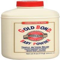 Gold Bond Cornstarch Plus Baby Powder 4 oz (Pack of 6)