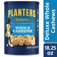 Planters Deluxe Whole Cashews, 18.25 oz Canister