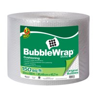 Duck Original 3/16 inch Bubble Wrap Cushioning, 12 in. x 150 ft., Clear