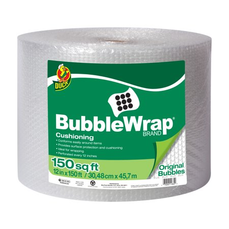 Duck Original Bubble Wrap Cushioning, 12 in. x 150 ft. Roll, (Bubble Wrappers)