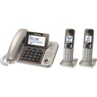 Panasonic KX-TGF352N Corded / Cordless 2 Handset Landline Telephone
