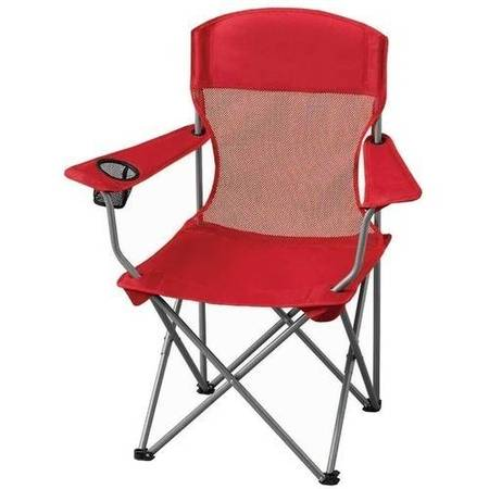 Ozark Trail Basic Mesh Folding Camp Chair with Cup