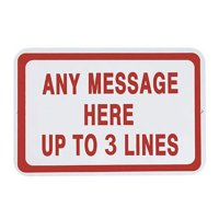 Personalized Any Message Metal Road Sign Horizontal