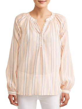 Women's Gauze Popover Top