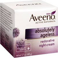 AVEENO Active Naturals Absolutely Ageless Restorative Night Cream, Blackberry 1.7 oz (Pack of 6)