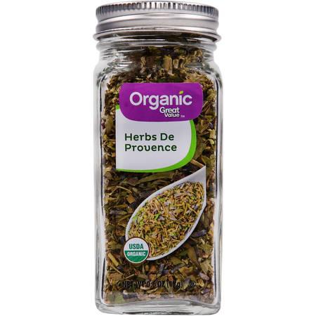Herbes De Provence ((2 Pack) Great Value Organic Herbs De Provence, 0.6)