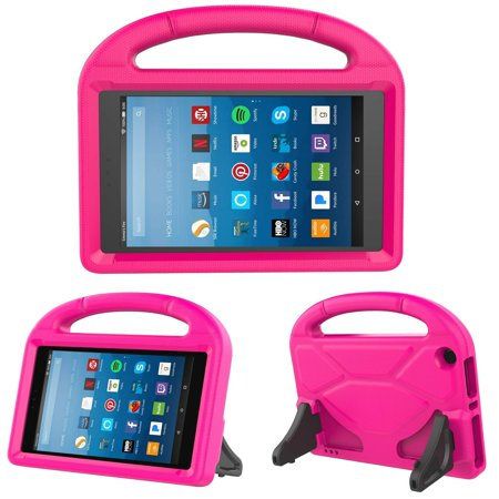 All-New Fire HD 8-inch 2018 2017 2016 Case, Allytech Light Weight Shock Proof Handle Kid Proof Cover Child Stand Case for Amazon Kindle Fire HD 8-inch Tablet (8th/ 7th/ 6th (Case Logic Kindle)