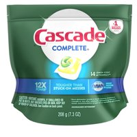 Cascade Complete ActionPacs Dishwasher Detergent, Lemon Scent, 14 count