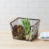 Better Homes & Gardens Large Stacking Wire Basket, Bronze (Available in Case Pack of 3 or Single Unit)