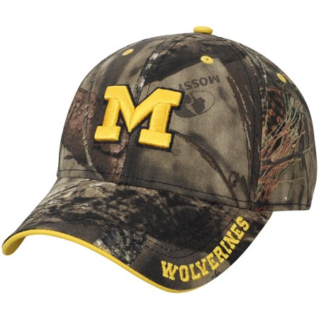 Michigan Wolverines Mossy Oak Clean Up Adjustable Hat - Camo - - Camo Team Hat