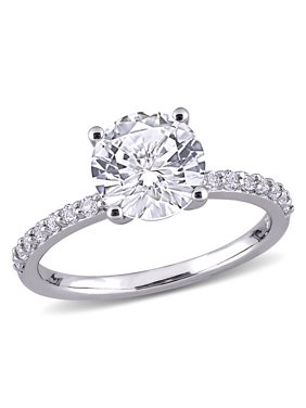 2-3/4 Carat T.G.W. Created White Sapphire 10kt Gold Engagement Ring