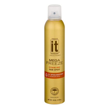 Freeze It Haircare Freeze Frame Hair Spray Mega Freeze Extreme Hold, 10.0 (Best Hairspray For Long Lasting Curls)