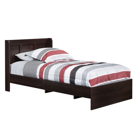 Sauder Parklane Platform Bed, Twin, Multiple Finishes, with (Cowhide Platform)