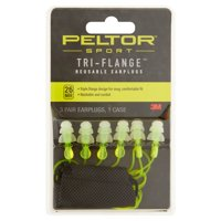 3M Peltor Sport Tri-Flange Reusable Earplugs