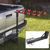 Best Choice Products 4-Bike Trunk Mount Carrier Rack for Cars Trucks Vans SUVs - Black/Red