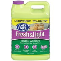 Cat's Pride Fresh & Light Quick Action Scented Multi-Cat Premium Scoopable Clumping Cat Litter Jug, 15-lb Jug