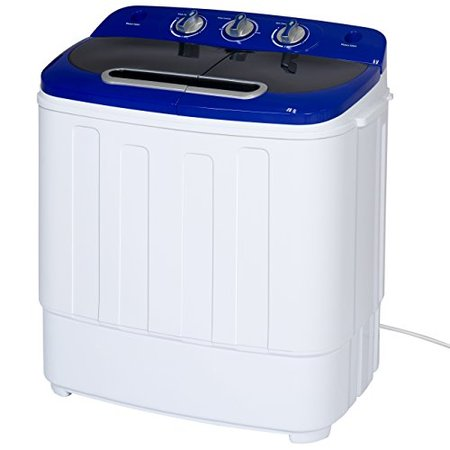 Best Choice Products Portable Compact Mini Twin Tub Washing Machine and Spin Cycle w/ Hose (Electric Washing Machine)