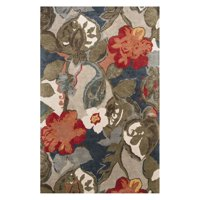 Jaipur Blue Hand-Tufted Petal Pusher Area Rug