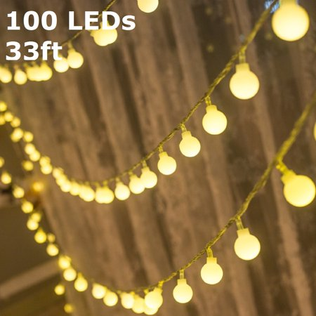 TORCHSTAR LED Globe String Lights, Waterproof Outdoor String Lights, Extendable Christmas Lights for Party, Garden, Patio, Bedroom, Dorm, Warm White - Patio Lights String