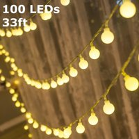 TORCHSTAR LED Globe String Lights, Waterproof Outdoor String Lights, Extendable Christmas Lights for Party, Garden, Patio, Bedroom, Dorm, Warm White