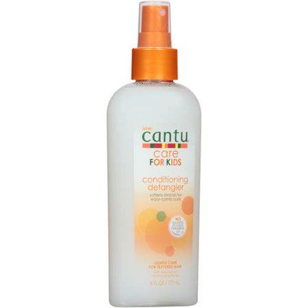 (2 pack) Cantu Care for Kids Gentle Conditioning Detangler Spray, 6 oz - Light Detangler Spray