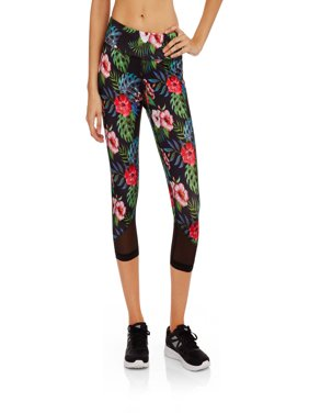 Women's Active Tropical Allover Print Capri Legging