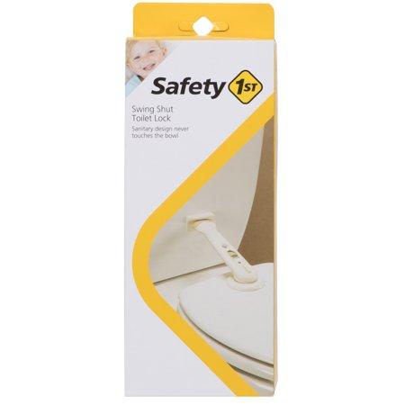- Safety 1st Babyproofing Swing Shut Toilet Lock, White