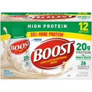 Boost High Protein Complete Nutritional Drink, Very Vanilla, 8 Fl oz, 12 Ct