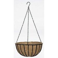 Gardman R408 14 in Black Traditional Hanging Basket & Liner