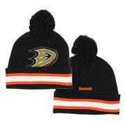 NHL Reebok Anaheim Ducks Youth Face Off Cuffed Knit Winter Hat With Pom d113fefe3