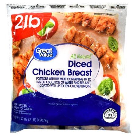 Great Value Diced Chicken Breast 32 Oz Walmart