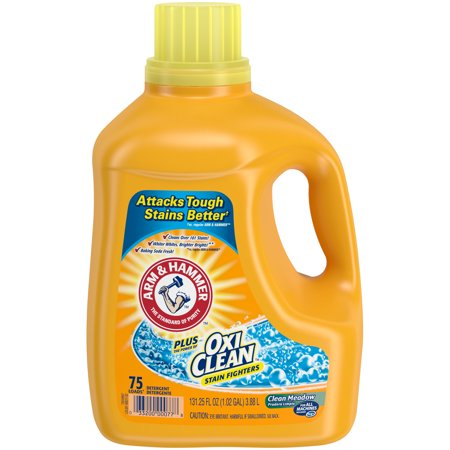 Arm & Hammer Plus OxiClean Clean Meadow Liquid Laundry Detergent, 131.25 fl